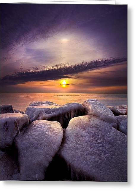 Hushed Greeting Card by Phil Koch