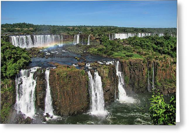 Iguazu Falls Greeting Card by David Gleeson
