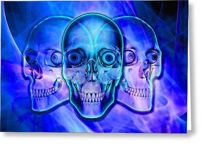 Illuminated Skulls Greeting Card