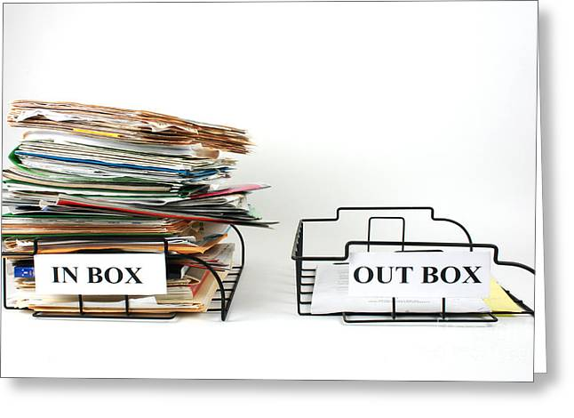 Inbox And Outbox Greeting Card