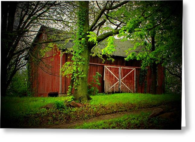 Indiana Barn Greeting Card by Michael L Kimble