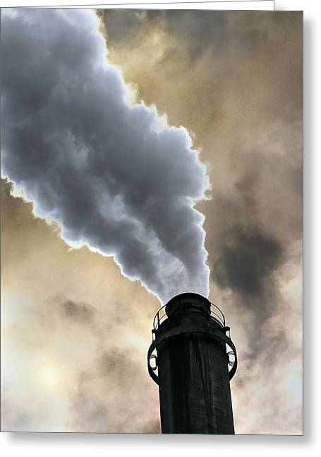 Industrial Air Pollution Greeting Card by Cordelia Molloy