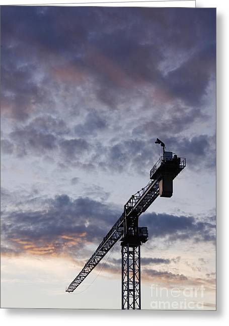 Industrial Crane Greeting Card by Jeremy Woodhouse