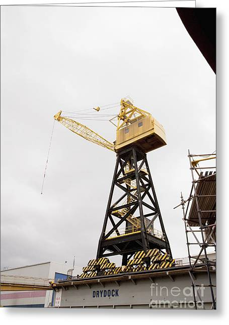 Industrial Crane Greeting Card by Shannon Fagan