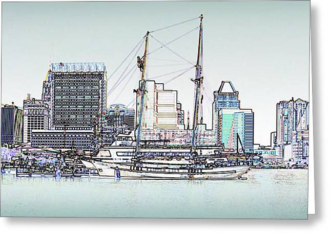 Inner Harbor Greeting Card by Brian Wallace