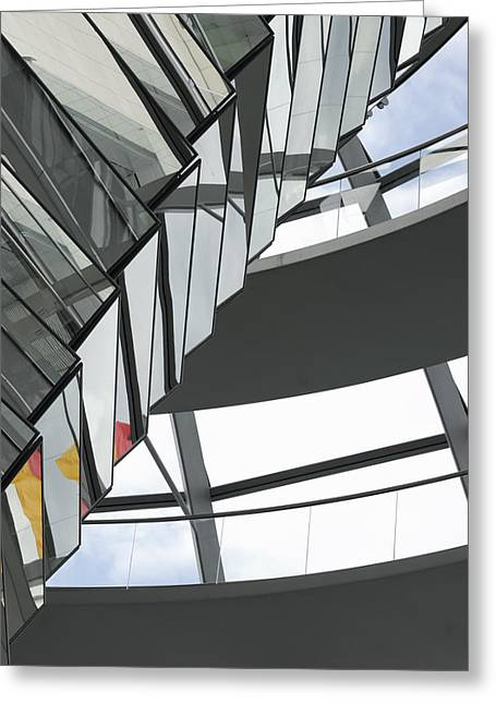 Inside Of The Glass Dome Of Reichstag  Greeting Card by Igor Sinitsyn