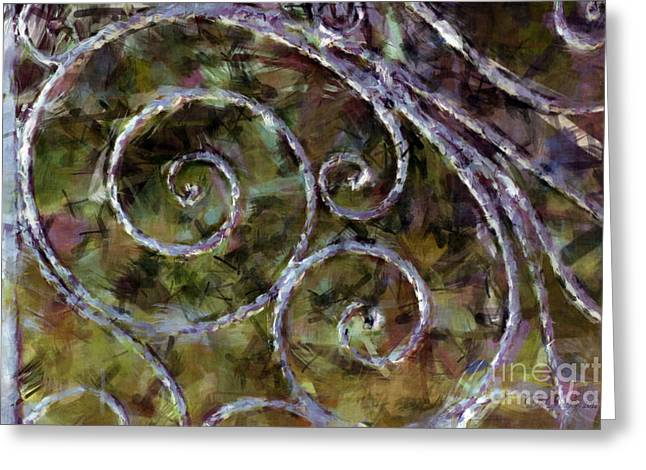 Iron Gate Greeting Card by Donna Bentley