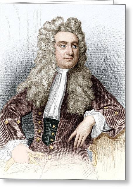 Isaac Newton, English Physicist Greeting Card by Sheila Terry