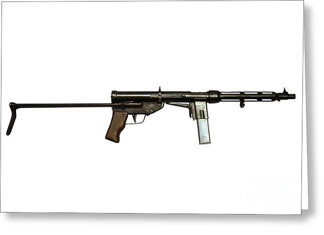 Italian Tz-45 9mm Submachine Gun Greeting Card