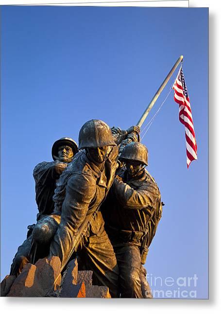 Iwo Jima Memorial Greeting Card by Brian Jannsen