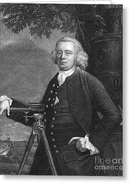 James Brindley, English Engineer Greeting Card by Science Source