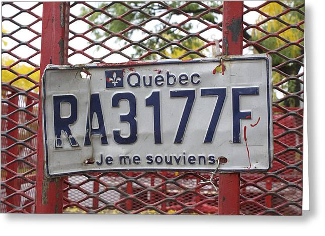 Je Me Souviens Greeting Card