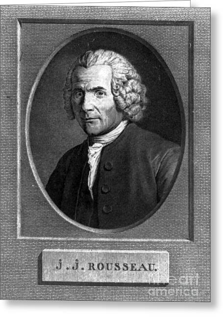 Jean-jacques Rousseau, Swiss Philosopher Greeting Card by Photo Researchers