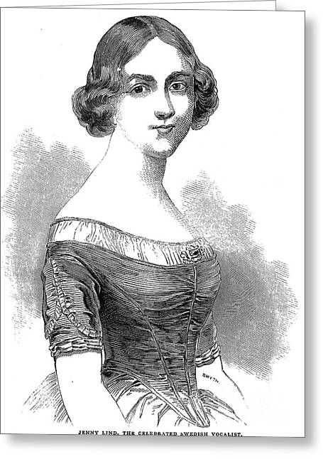 Jenny Lind (1820-1887) Greeting Card by Granger