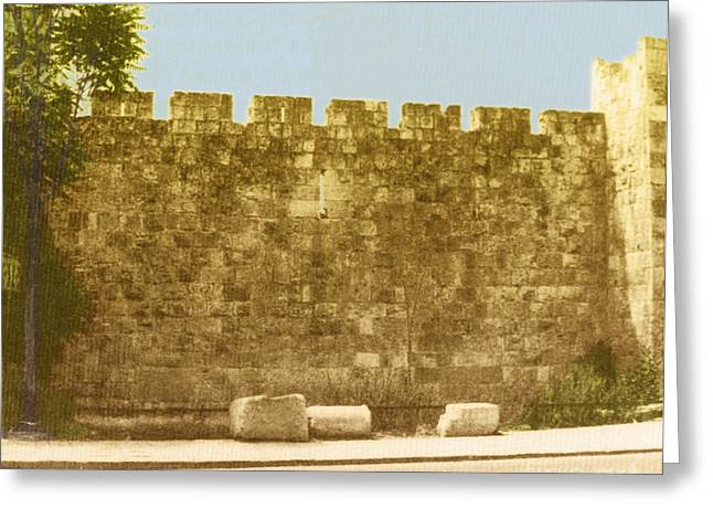 Jerusalem City Wall, Historic Site Greeting Card