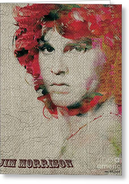 Jim Morrison Greeting Card by Max Cooper