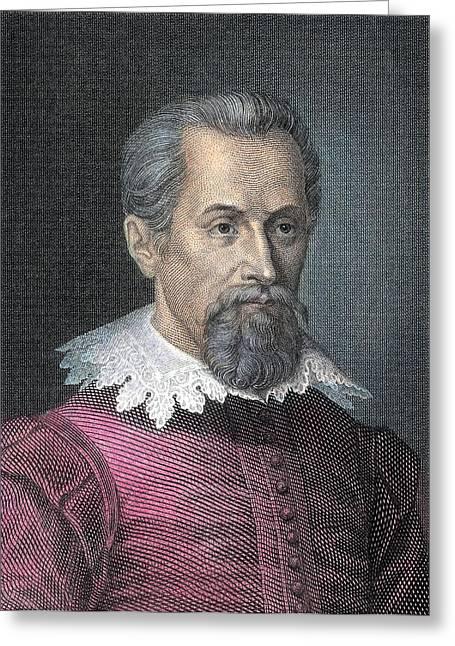 Johannes Kepler, German Astronomer Greeting Card by Detlev Van Ravenswaay