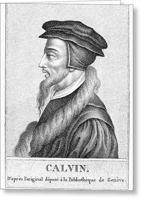 John Calvin (1509-1564) Greeting Card by Granger
