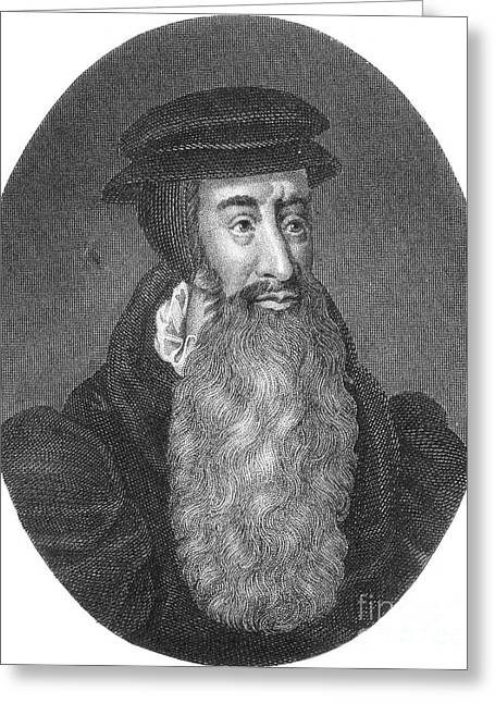John Knox, Scottish Protestant Greeting Card by Photo Researchers