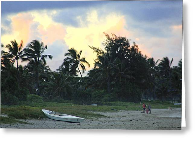 Kailua Beach Sunset Greeting Card