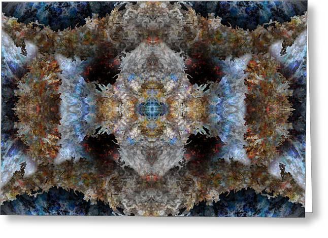 Kaleidoscope Greeting Card by Christopher Gaston