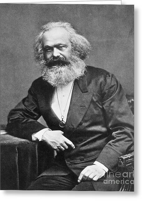 Karl Heinrich Marx, German Polymath Greeting Card