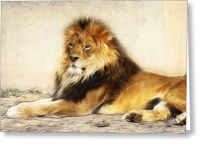 King Greeting Card by Tilly Williams
