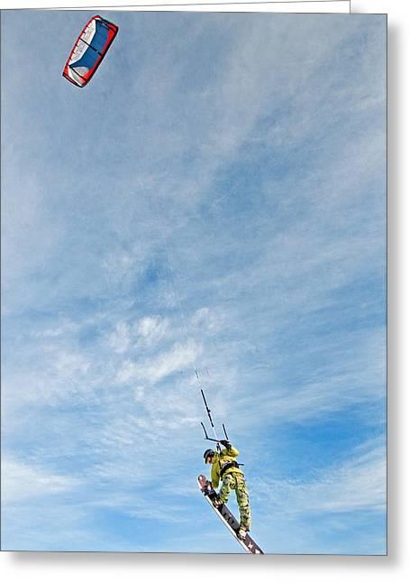 Kite Board Greeting Card by Elijah Weber