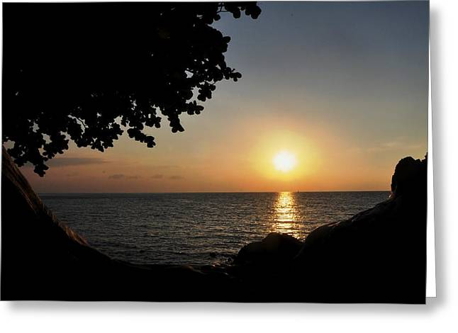 Kona Sunset II Greeting Card by Danielle Del Prado