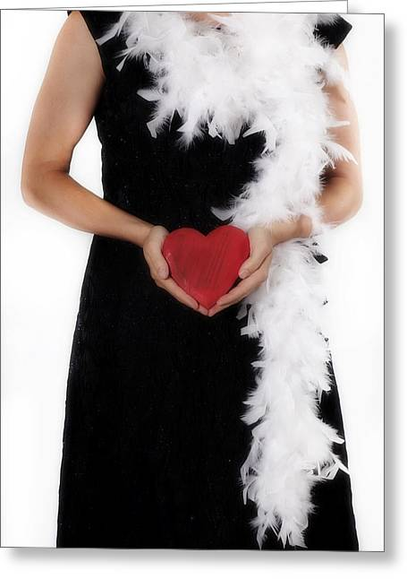 Lady With Heart Greeting Card
