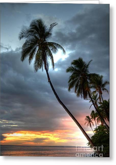 Lahaina Sunset Greeting Card