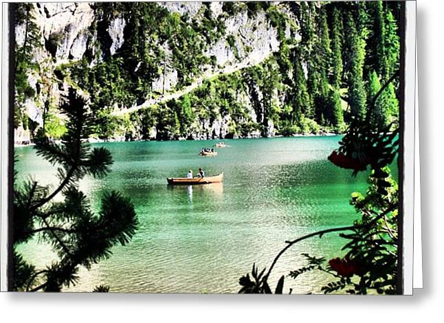 Lake Of Braies - South Tyrol Greeting Card