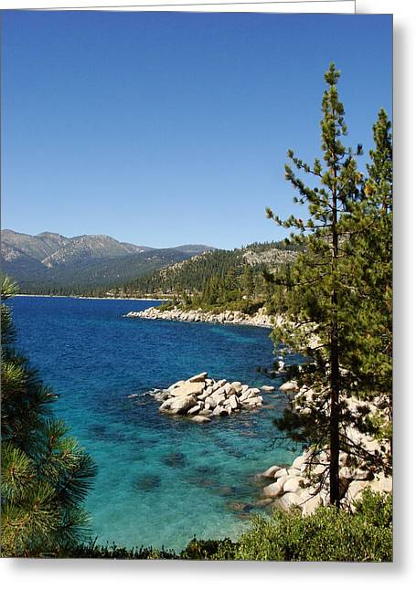 Lake Tahoe Shoreline Greeting Card by Scott McGuire