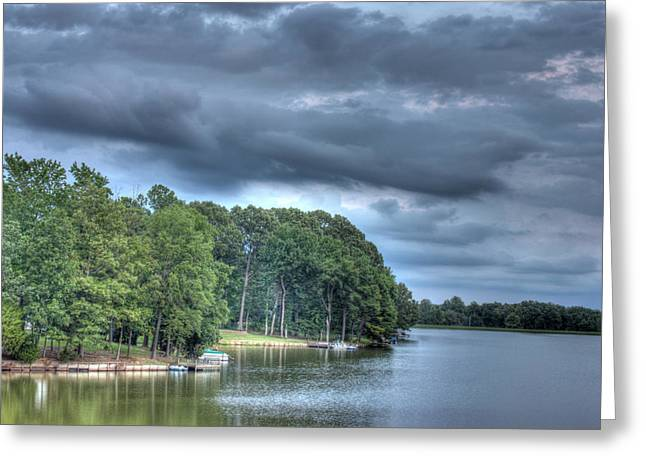 Lakeside Greeting Card by Barry Jones