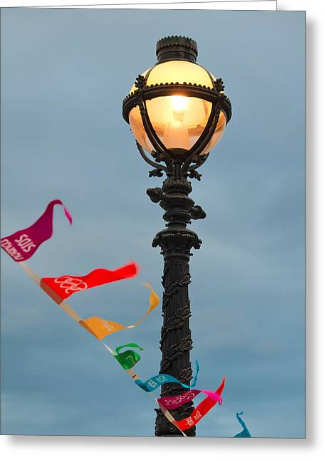 Lamp Light Greeting Card by Shirley Mitchell