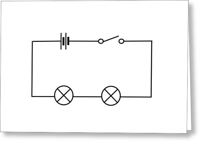 Lamps Connected In Series Greeting Card