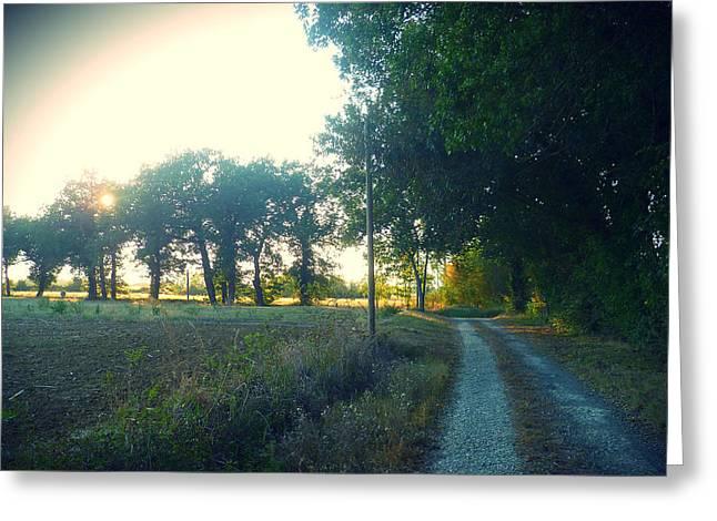 Landscape Near Mauvezin Greeting Card by Sandrine Pelissier
