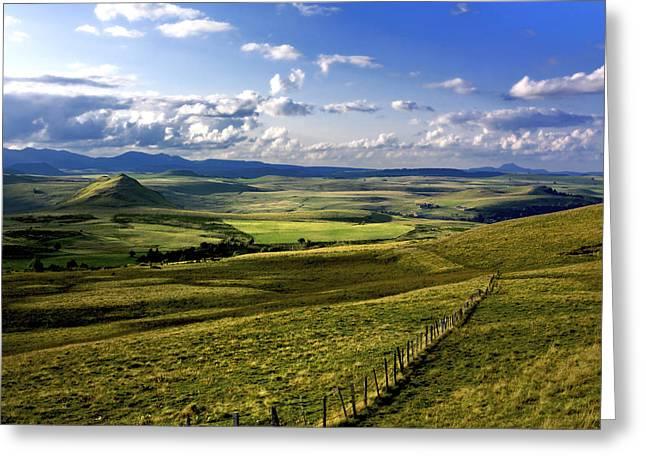 landscape of Cezallier. Auvergne. France Greeting Card by Bernard Jaubert
