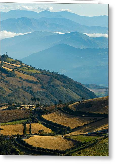 Landscape Of Southern Colombia. Greeting Card