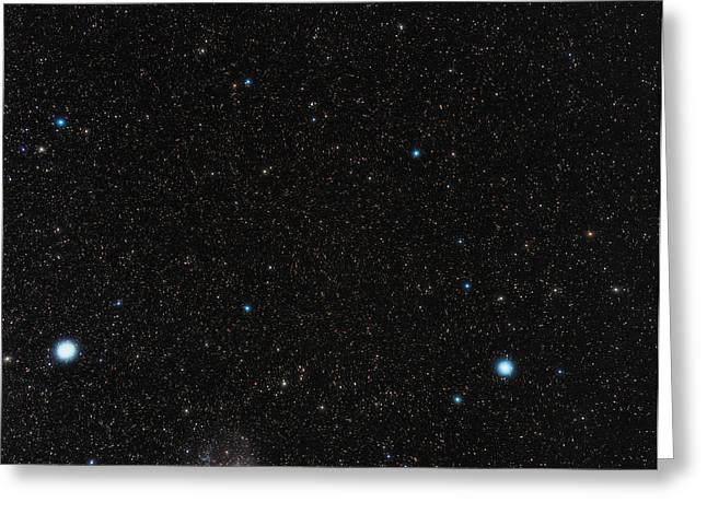 Large Magellanic Cloud Greeting Card by Eckhard Slawik