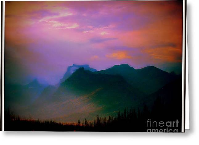Late Evening In Mountains Greeting Card by Irina Hays