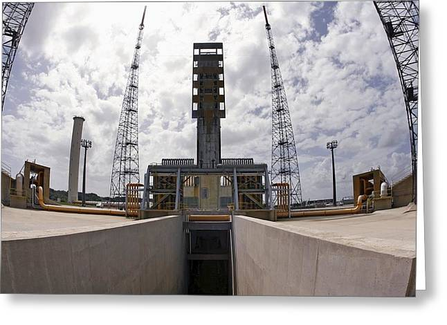 Launch Pad Assembly, Guiana Space Centre Greeting Card by Ria Novosti