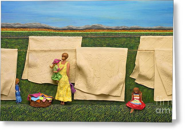 Laundry Greeting Card by Anne Klar
