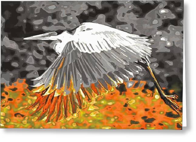 Leaden Wings Greeting Card