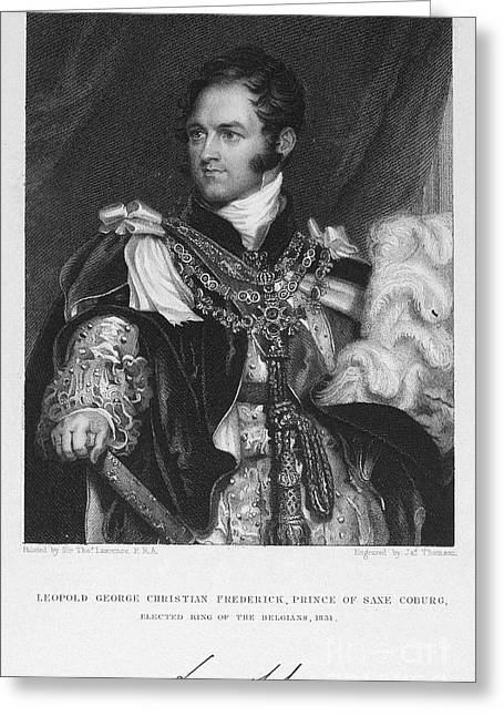 Leopold I (1790-1865) Greeting Card by Granger