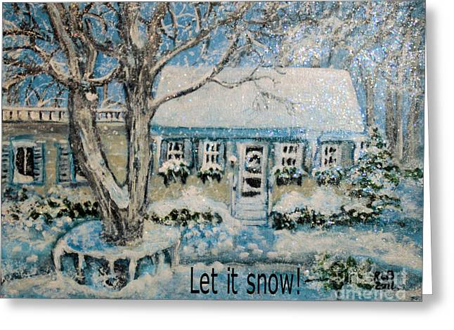 Let It Snow Greeting Card by Rita Brown