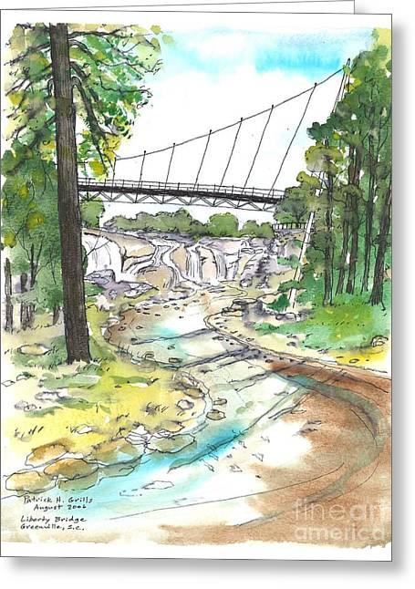 Liberty Bridge Greeting Card