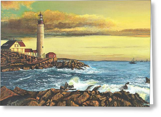 light house Nova Scotia Greeting Card