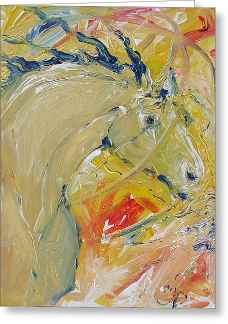 Lightening Greeting Card by Elizabeth Parashis