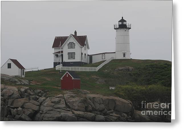 Lighthouse Greeting Card by Claire Reilly